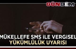 Mükellefe SMS ile vergisel yükümlülük uyarısı