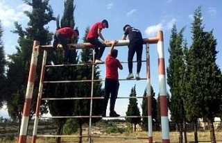 Safranbolu'da itfaiye ekipleri tatbikat ve eğitim...