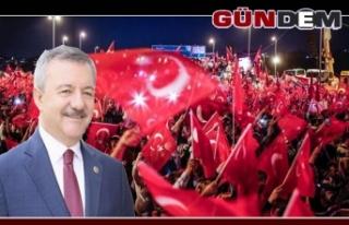 Türkmen'den 15 Temmuz mesajı