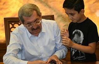 8 yaşındaki Batuhan'dan Başkan Vergili'ye teşekkür