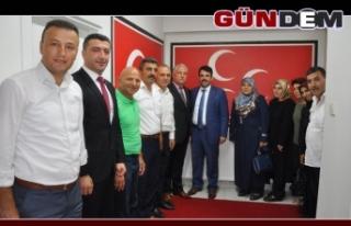 Ak teşkilattan MHP'ye ziyaret