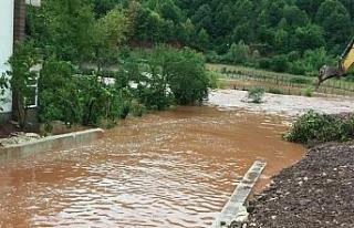 Bartın'da sağanak yağış taşkına neden oldu