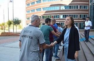 Düzce Üniversitesi personeli bayramlaştı