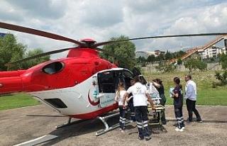 Hava ambulansı 14 günlük bebek için havalandı