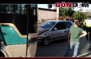 İncivez'de kaza!
