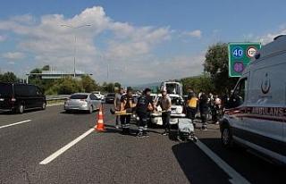 TEM Otoyolunda kazalar nedeniyle trafik durma noktasına...