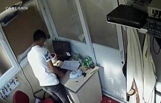 Camideki hırsızlık güvenlik kamerasında
