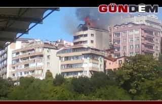 Fener'de bir evde yangın çıktı..