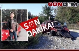 17 yaşındaki Berkay kazada yaşamını yitirdi...