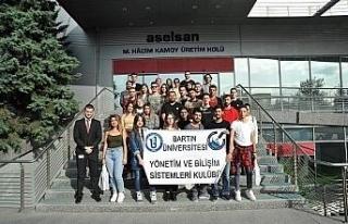 Bartın Üniversitesi öğrencileri ASELSAN'ı ziyaret...