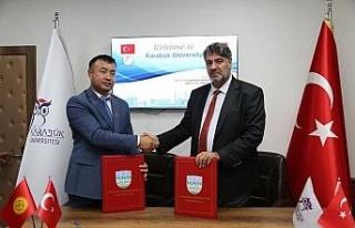 Kırgızistan OŞ Devlet Üniversitesi ile iş birliği...