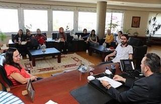Mimarlık öğrencileri Başkan Yanmaz'ı ziyaret...