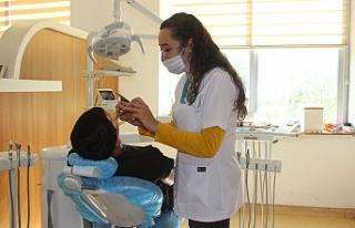 Otizmli çocukların ağız diş taramaları başladı...