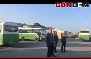 Park halindeki özel halk otobüsleri soyuldu!..