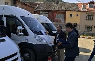 Safranbolu'da öğrenci servis araçları denetlendi