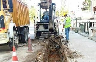 Safranbolu'da yağmur suyu hattı çalışmaları