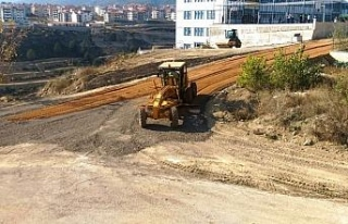 Safranbolu'da yol yapım ve onarım çalışması