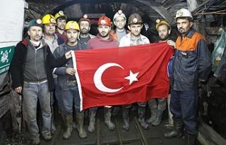 Yerin metrelerce altından Mehmetçiğe destek!..