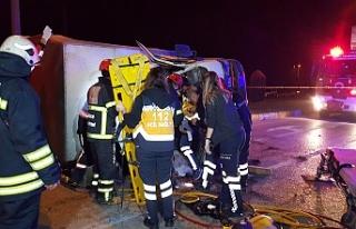 Zincirleme kazada 1 kişi öldü 4 kişi yaralandı!..