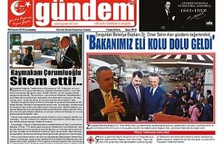 09 KASIM 2019 CUMARTESİ GÜNDEM GAZETESİ