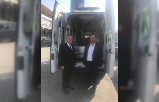 Akçakoca Belediyesine tam donanımlı ambulans hibe...