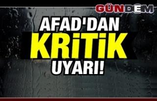 DİKKAT! AFAD UYARDI  