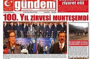 23 ARALIK 2019 PAZARTESİ GÜNDEM GAZETESİ
