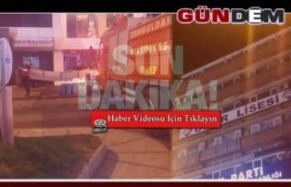 Ak Parti ve MHP binalarının çatısına çıktılar!
