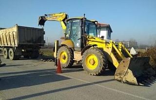 Düzce Belediyesinin yama çalışmaları devam ediyor