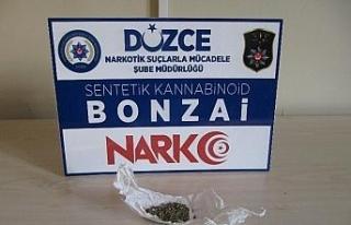 Düzce'de uyuşturucu operasyonu: 2 tutuklama