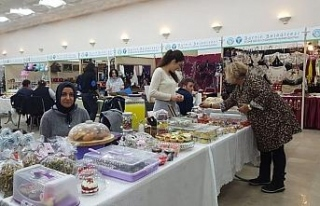 El emeği ürünler fuarda satışa çıktı