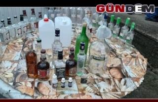 Jandarmadan kaçak içki operasyonu!..