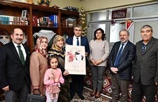 Vali Gürel'den şehit ailelerine ziyaret