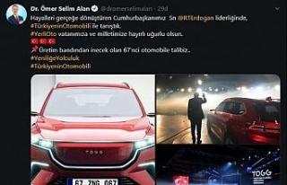 Başkan Alan 67. yerli otomobile talip...