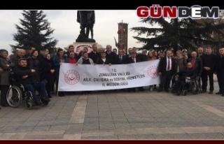 Zonguldak'ta Engelliler Günü kutlandı