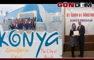 Zonguldak'ı Konya'da temsil etti