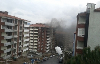Ereğli´de inşaat halindeki apartmanda yangın...