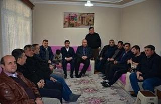 Başkan Çaylı yaralanan askeri baba ocağında ziyaret...