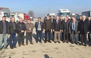 Başkan Özlü'den kamyoncu esnafına ziyaret