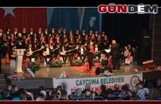 Çaycuma'da Türk Halk Müziği Topluluğu konser...