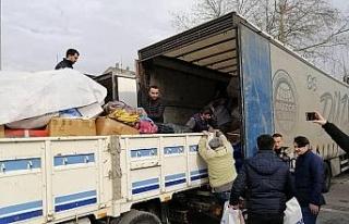 Çilimli Gençlik Merkezi'nden Elazığ'a yardım
