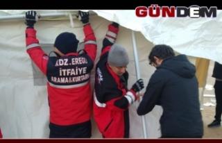 Ereğli ekibi Elazığ'da çalışmaya başladı