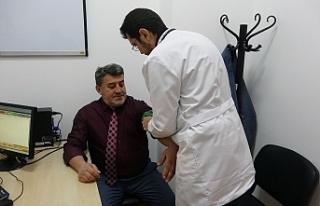 Gazeteciler sağlık taramasından geçti...