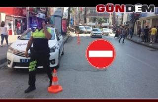 Gazipaşa Caddesi trafiğe kapandı!..
