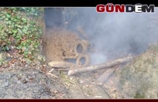 Komandolar Kaçak kömür ocaklarını patlattılar...