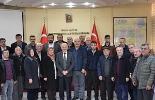 Köy muhtarları , Genel Sekreter Uzun'u ziyaret...