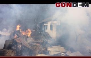 Köyde korkutan yangın! Evler kül oldu