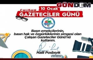 POSBIYIK, GAZETECİLER GÜNÜ'NÜ KUTLADI...