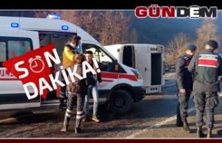 TTK işçi minibüsü devrildi...Yaralılar var