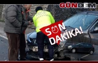 Zonguldak'ta iki otomobil çarpıştı!..